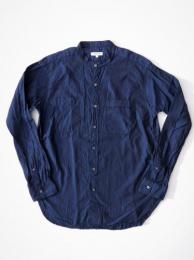 Banded Collar Shirt (Cotton Iridescent)