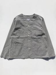 Cardigan Jacket (Seersucker Stripe)