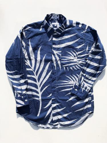 Short Collar Shirt (Big Leaf Print)