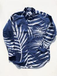 Short Collar Shirt (Big Leaf Print)