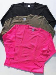 Side Slit Crew Neck Shirt (Knit Mesh)