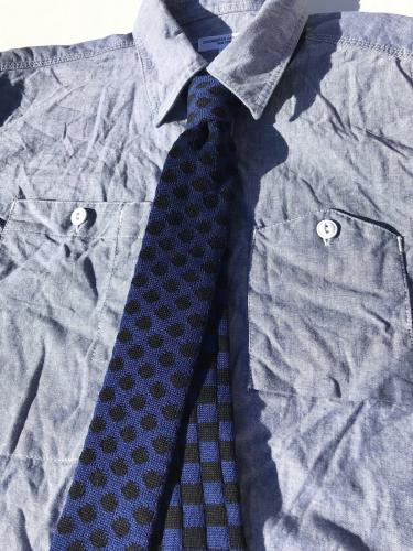 Knit Tie (Polka Dot Check)
