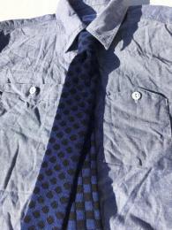 Knit Tie (Polka Dot Check)