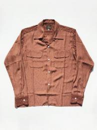 """C.O.B. Classic Shirt (Flower Jq.) """"Brown"""""""