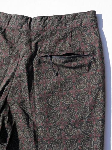"Sunset Short (Java Cloth) ""Olive Floral"""