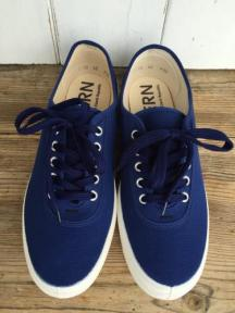 【FERN】 Shoe with Lace (Navy)