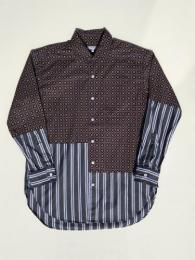 Spread Collar Shirt (Floral Foulard Print)