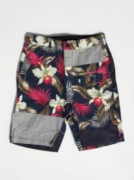 Ghurka Short (Hawaiian Floral Java Cloth)