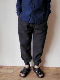 Belted Slack Pant (Linen Hickory Stripe)