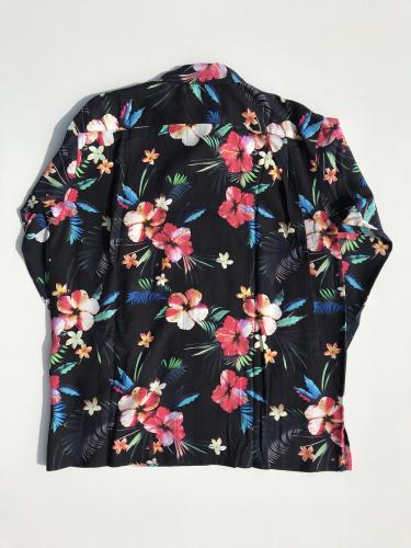 Classic Shirt (Tropical Floral Print Rayon)