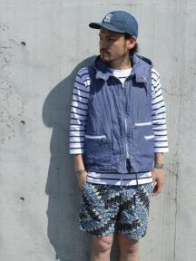 NAT-U-RAL別注 North Wind Vest (Dungaree Cloth)