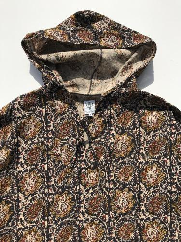 "Mexican Parka (Printed Flannel / Paisley) ""Black"""