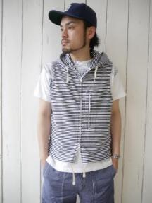 Sleeveless Knit Hoody (St. French Terry)