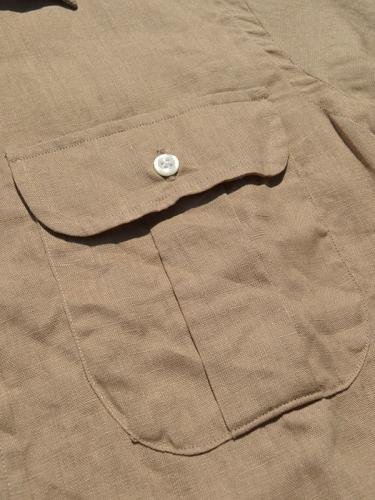 New Standard Fit Regular collar Shirt (Linen)