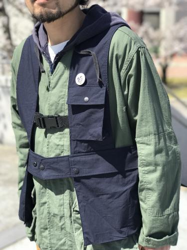 "【KNIFEWING】 TOOL VEST (Ripstop) ""Navy"""