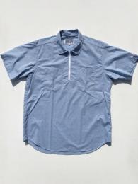 Half Zip Shirt (Melange Cotton Sheeting)