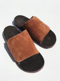 【monitaly × The Sandalman】  Leather Slide Sandal