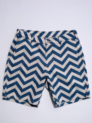 【Sunlight Believer】 U.S.A. CANVAS SHORTS (ZIGZAG)