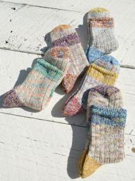 Line Picot Socks
