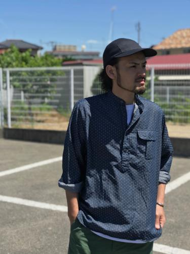 NAT-U-RAL別注 Classic Fit Popover Banb Collar Shirt