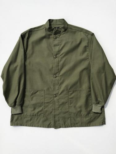 Stand Collar Army Shirt  (Cotton Back Sateen)