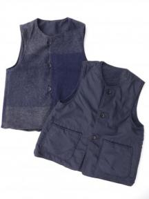 Over Vest (Big Plaid Melton / Nyco Ripstop)