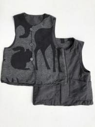 Over Vest (Activecloth / Animal Wool Jacqurd)