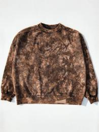 【monitaly】 Mock Neck Sweat Shirt (Tie Dye)