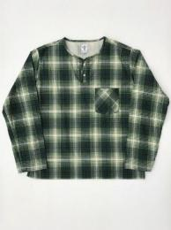 "Flannel Henley Neck Shirt (Indian Flannnel)""Green"""
