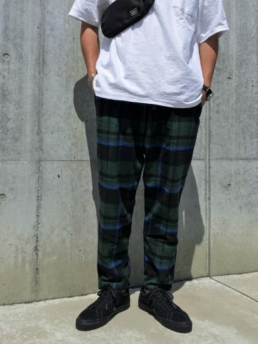 String Slack Pant (Cotton Twill / Plaid)