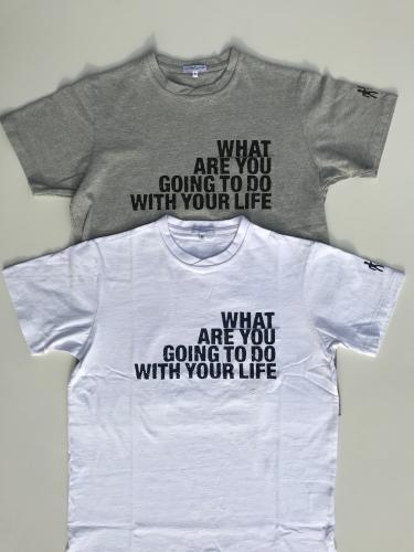 Printed Cross Crew Neck T-Shirt (WHAT ARE YOU)