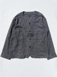 Cardigan Jacket (Poly Wool Herringbone)
