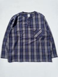 Henley Neck Shirt (Plaid Twill)