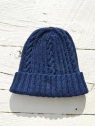 22F Cotton Denim Hand Knit Cap (Single Weight)