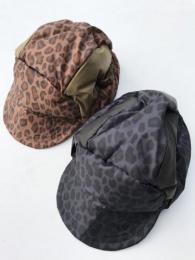 Bird Shooting Cap (Poly Taffeta / Leopard Print)