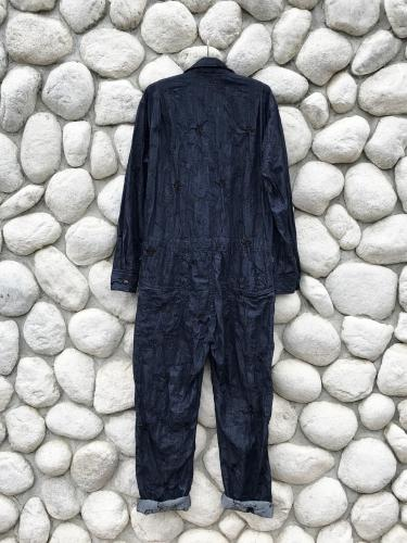 Coverall Suit (Floral Embroidery Denim)