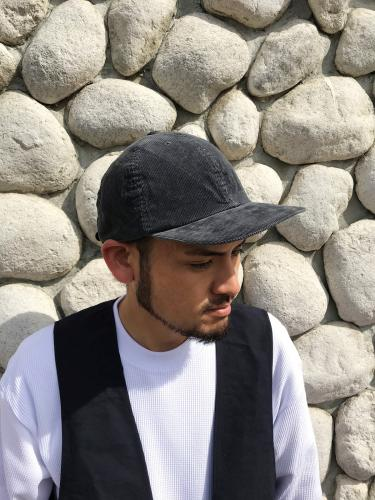 Leather Backle Cap (Corduroy)
