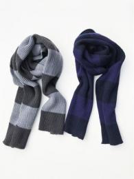 Knit Long Scarf (Stripe)
