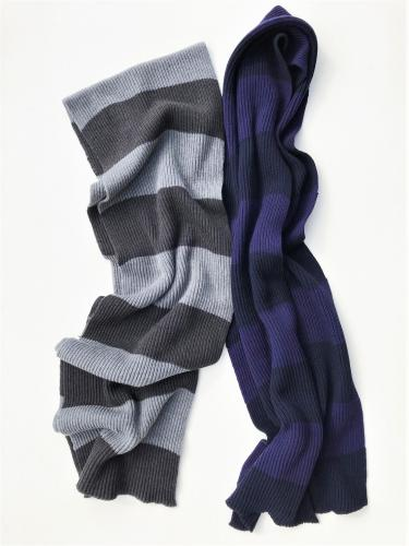 Knit Long Scarf (Stripe)