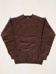 Crew Neck Shetland Sweater (Shaggy)