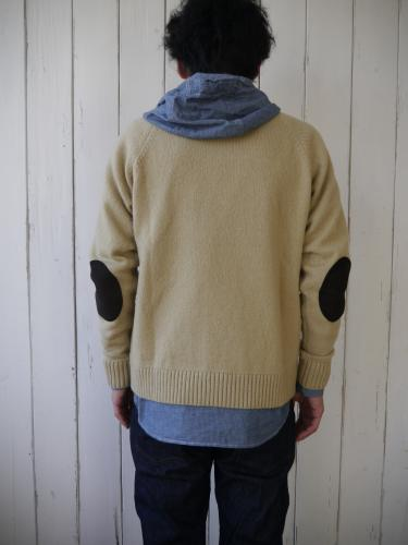 NAT-U-RAL別注 Crew Neck Shetland Sweater with Pocket