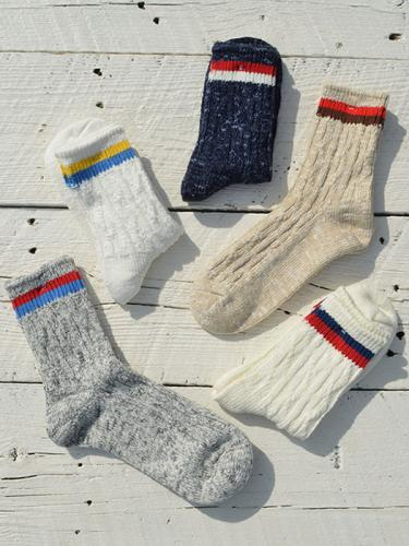 Cable 2 Line Socks