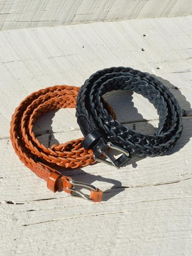 【ANGLO】 Leather Mesh Belt
