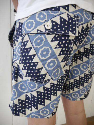 NAT-U-RAL別注 Fatigue Short (Batik Diagonal St.)