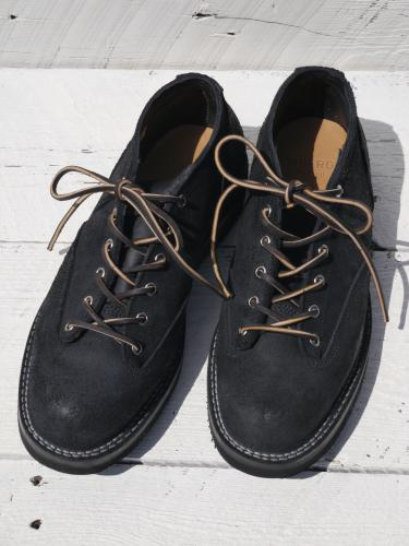 Lace To Toe Oxford  (Black Suede)